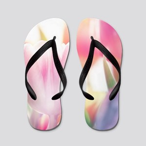 Beautiful Tulips Flip Flops